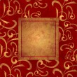 Red and gold grunge paper background — Stock Photo