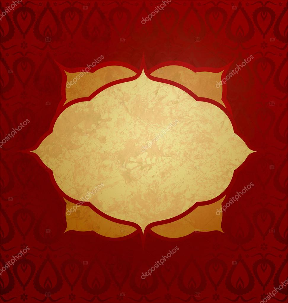 Red and gold grunge paper background  Stock Photo #14155521