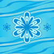 Vector snowflake on blue background winter christmas illustratio - Stockfoto