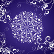 Vector snowflake on blue background winter christmas illustratio - Stock fotografie