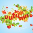 Autumn abstract — Stock Vector