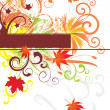 Abstract autumn vector backgound — Stock Vector