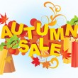 Autumn sale — Vektorgrafik
