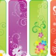 Royalty-Free Stock Vectorielle: Set of 4 different seasonal banners
