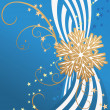 Royalty-Free Stock Vector Image: Snowflake on striped blue background christmas illustration