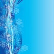Blue cyan snowflakes background - 图库矢量图片
