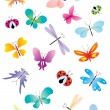 Color butterflies set - Imagen vectorial