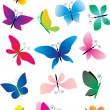 Different butterflies — Stock Vector
