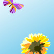 Butterfly and flower - Stock Vector