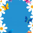 Royalty-Free Stock Vector Image: Daisies and butterflies