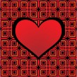 Celtic heart red — Imagen vectorial
