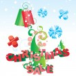 Christmas tree vector sale image — Stock Vector
