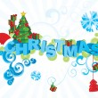 Vector christmas text ornamental picture — Stock Vector