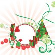 Vector christmas ornamental picture — Stock Vector
