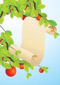 Desplazarse en manzano — Vector de stock