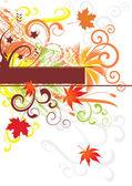 Abstract autumn vector backgound — Stock Vector