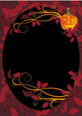Autumn dark frame, halloween decoration — Vector de stock