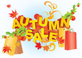 Autumn sale — Stok Vektör