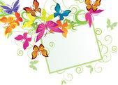 Butterflies banner — Stock Vector