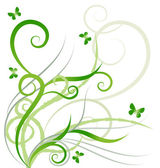 Green butterflies — Stock Vector
