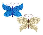 Vector butterflies set — Stock Vector