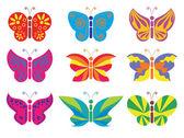 Different vector color butterflies — Stock Vector