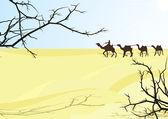 Desert karavan — Stock Vector