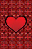 Celta corazón rojo — Vector de stock