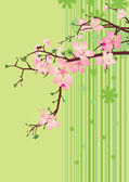 Pink flowers backdrop — Stock Vector