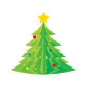 Vector picture of christmas tree — Stock Vector