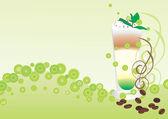 Latte wüste — Stockvektor