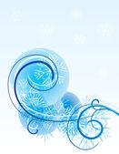 Snowflakes abstract vector blue backdrop — Stock Vector