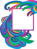 Ilustração em vetor de banner de cor com curvas — Vetorial Stock