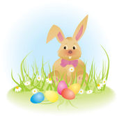Easter bunny vector ilustration — Vetorial Stock