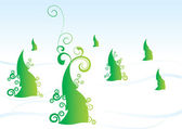 Christmas tree vector forest winter — Stock Vector