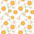 Orange flowers — Imagen vectorial