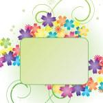 Vector flower green banner — Stock Vector