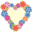 Royalty-Free Stock Vector Image: Flowers heart