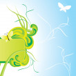 Summer green banner - Stockvectorbeeld