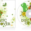 Vector de stock : Disc cover floral design