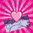 Grunge heart vector background - Stock Vector