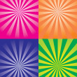Vector different color abstract backgrounds — ベクター素材ストック