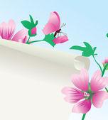 Roze bloem aard beeld — Stockvector