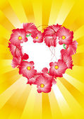 Heart flowers spark — Vector de stock