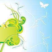 Lato zielony sztandar — Wektor stockowy