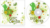 Disc cover floral design — Stock Vector
