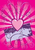 Grunge srdce vektorové pozadí — Stock vektor