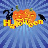 Halloween invitation or background — Stock Vector