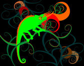 Kameleon na oddział — Wektor stockowy