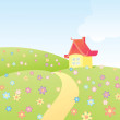 Cartoon house - Image vectorielle
